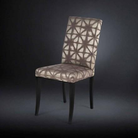 2 septembrie scaune moderne tapițate, cu picioare din lemn în Audrey negru
