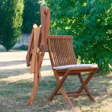 scaune rabatabile in gradina din lemn de tec