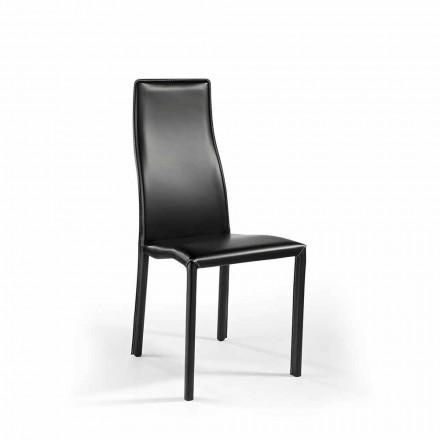 Scaun din aluminiu super ușor tapițat în piele sau piele - croazieră