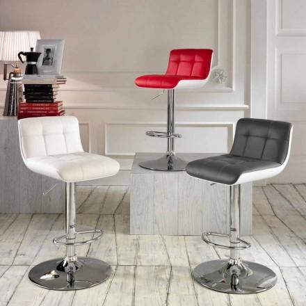 Set 2 scaune capitonate de design, reglabil pe inaltime Ida