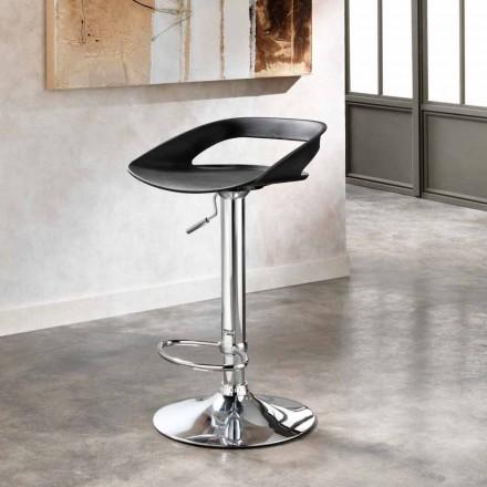 2 septembrie scaune din crom metalic si PVC Aldo, design modern