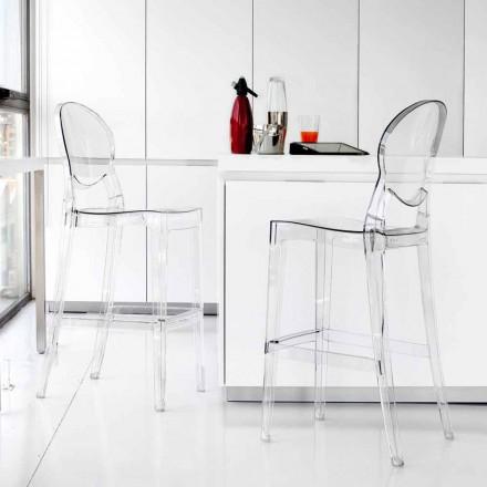 Scaun contemporan Bosa policarbonat transparent, elegant