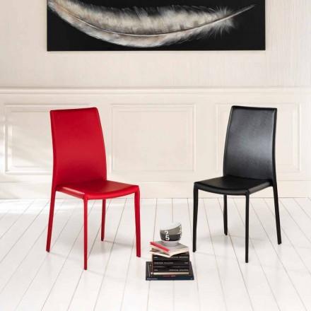 04 septembrie scaune moderne Joy imitație de piele, acoperite în întregime