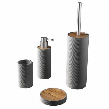 Set de accesorii pentru baie de blat în alb sau gri - rășină de vulpe