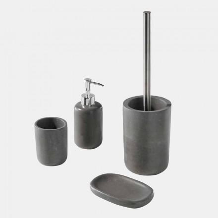 Set de accesorii pentru baie din rășină gri - Pailette