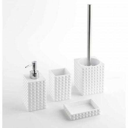 Set de accesorii moderne pentru baie din rășină albă sau nisip - perle