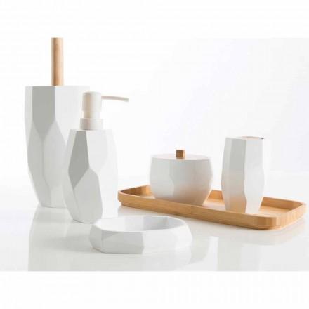 Setați accesorii pentru baie din lemn și rășină Rivalba