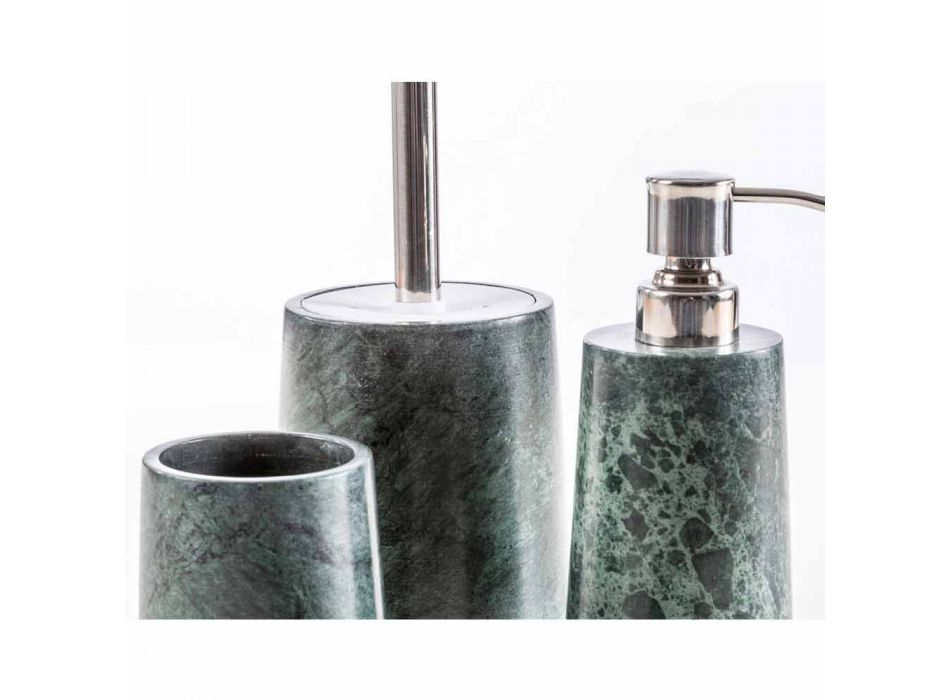 Accesorii moderne pentru baie, prevăzute cu marmură verde Bombei