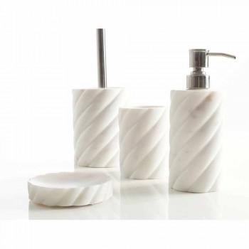 Accesorii de design pentru baie din marmura Calacatta Monza