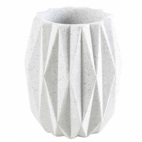 Levice Set de accesorii pentru baie din rășină albă