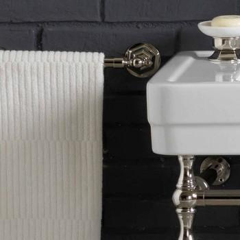 Set de baie cu dublă consolă în ceramică albă de structură liniară
