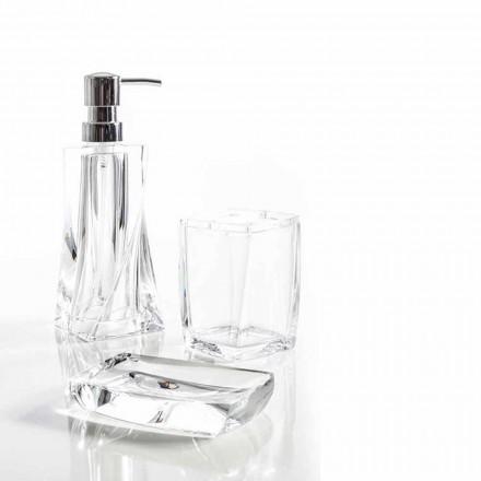 Torraca set dispenser + pahar + vas de săpun pentru design baie