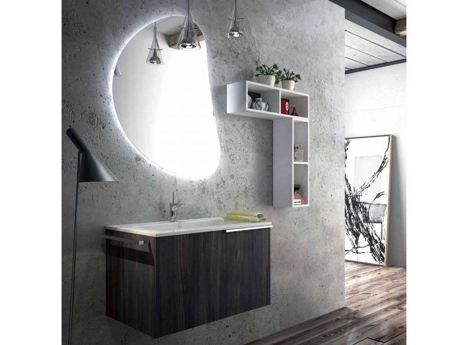Seturi de mobilier de baie din piatră cu design din lemn realizate în Italia :-(