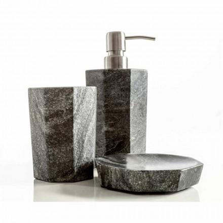Set de accesorii moderne pentru baie în marmură gri grila Montafia