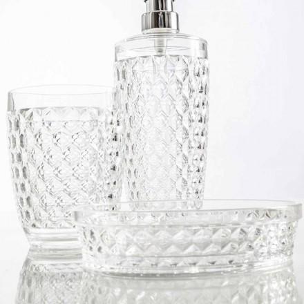 Set pentru dozator de baie + sticlă + vas de săpun modern Netro