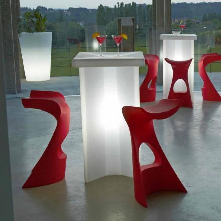 Scaun exterior înalt pentru interior / interior Slide Koncord, fabricat în Italia
