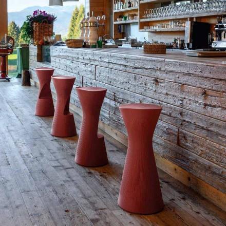 Scaun de grădină înalt din polietilenă colorată Fabricat în Italia - Desmond