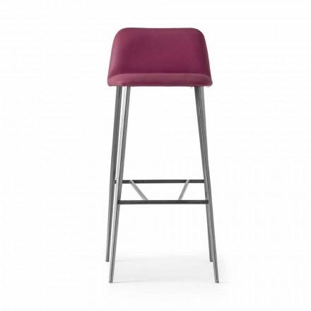 Scaun de înaltă calitate din piele cu bază metalică Fabricat în Italia - Molde