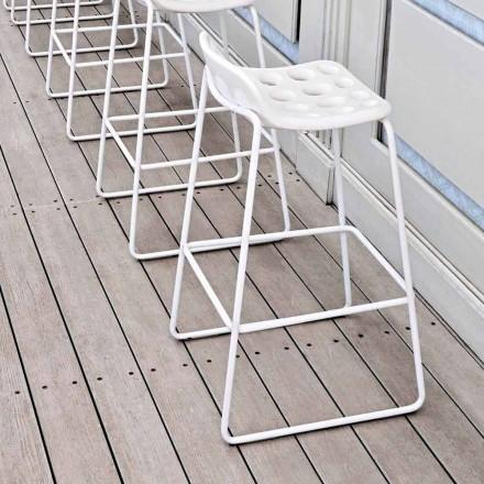 Scaun de design înalt din plastic alb pentru bucătărie 2 bucăți - chipsuri de Myyour