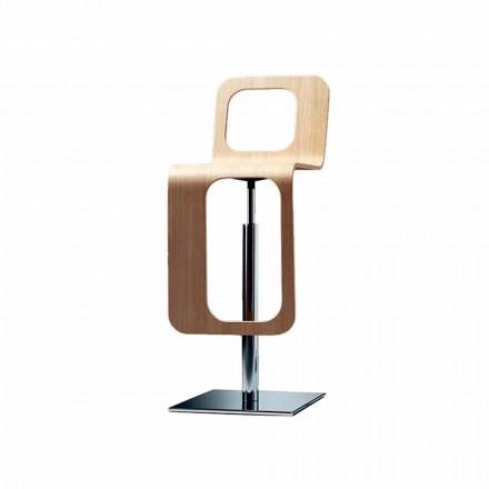 Scaun de bucătărie de design modern din lemn de stejar și metal - Signorotto