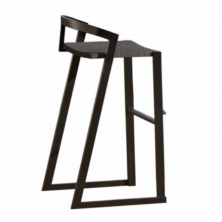 Scaun de design exterior din aluminiu de înaltă calitate, 3 piese - Filomena