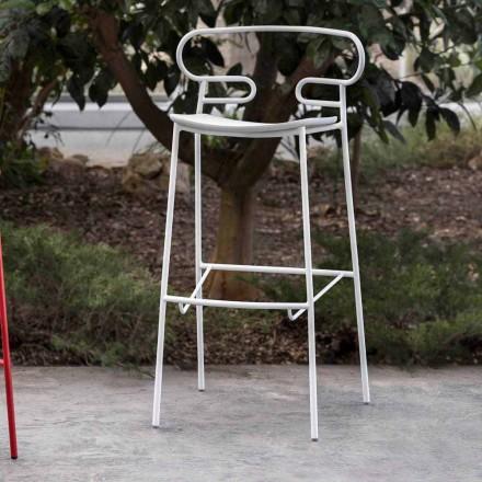 Scaun de exterior din metal vopsit și poliuretan Fabricat în Italia - Trosa