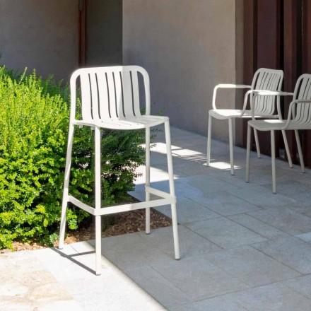 Trocadero scaun modern de sticlă în aer liber de Talenti, din aluminiu