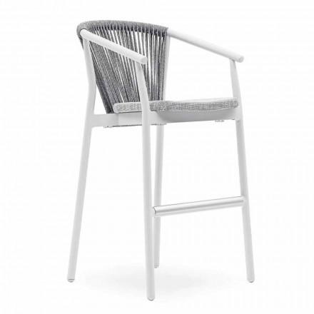 Scaun de grădină stivuibil din aluminiu și țesătură tehnică - inteligent de Varaschin