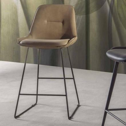Scaun cu design modern cu șipci din metal vopsit - Ines