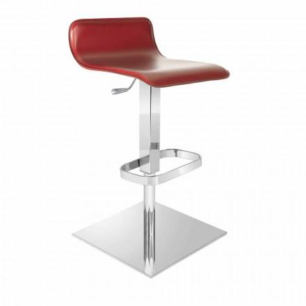 Scaun de design cu scaun reglabil și bază Inigo din crom