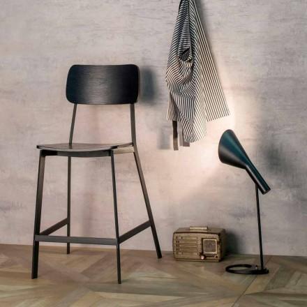 Elmas scaun modern de design H 97 cm, din lemn și metal
