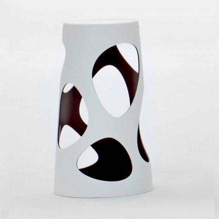 Scaun stivuibil pentru exterior sau interior, alb și negru, 2 bucăți - Liberty de Myyour