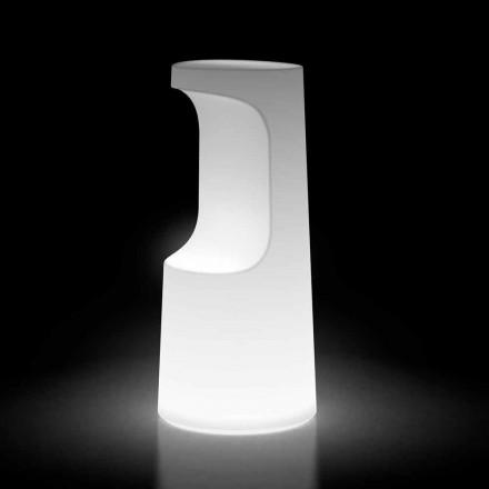 Scaun luminos de exterior din polietilenă cu lumină LED Made in Italy - Forlina