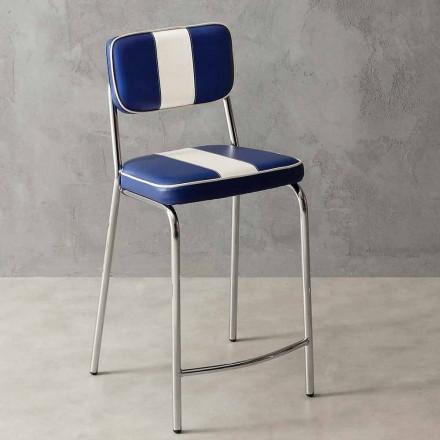 scaun clasic 50 de ani de piele faux cu o bandă albă centrală Banda