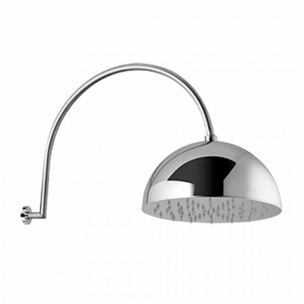 Cap de duș cu clopot din oțel cu braț arcuit Fabricat în Italia - Auro