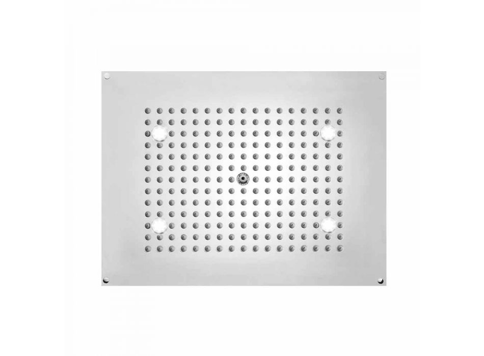 Cap de duș Bossini dreptunghiulară cu un jet și lumini cu LED-uri