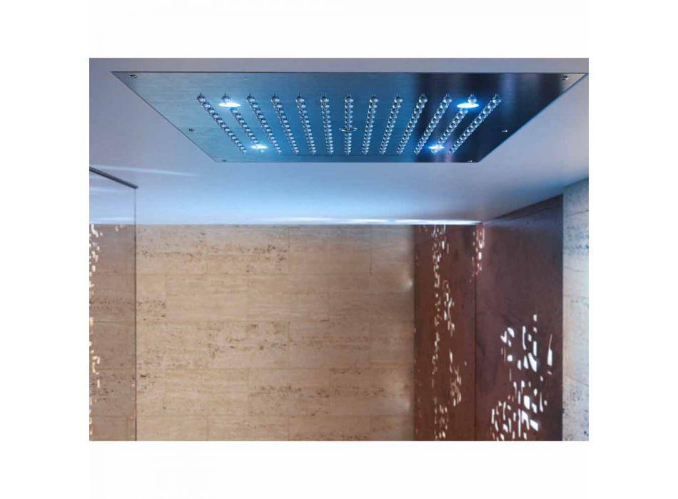 cap de duș cu cromoterapie două jeturi moderne de design de vis