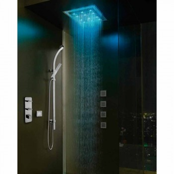 cap de duș cu cromoterapie și decorațiuni în Swarovski Bossini