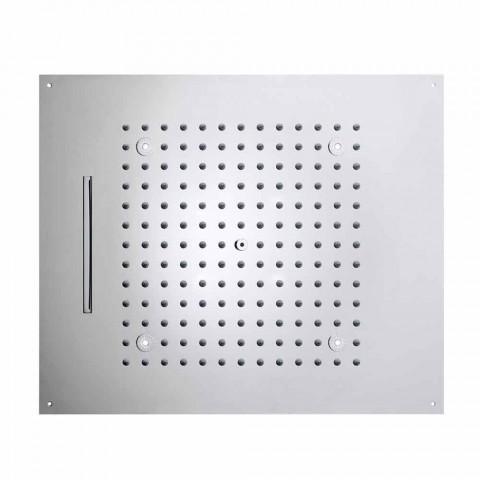 cap de duș cu lumini LED la două jeturi moderne de design de vis