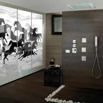 cap de duș cu lumini LED-uri și decorațiuni în Swarovski Bossini vis