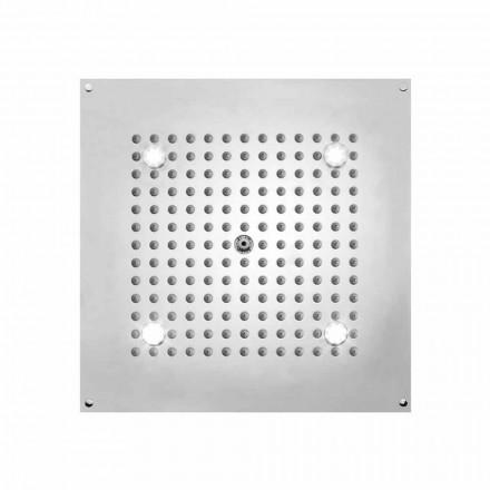 cap de duș cu LED-uri pătrat lumini la un jet de Bossini