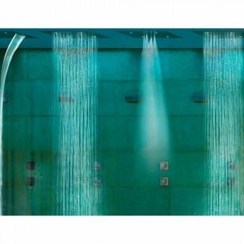 cap de duș de tavan cu două jeturi și vis cromoterapie