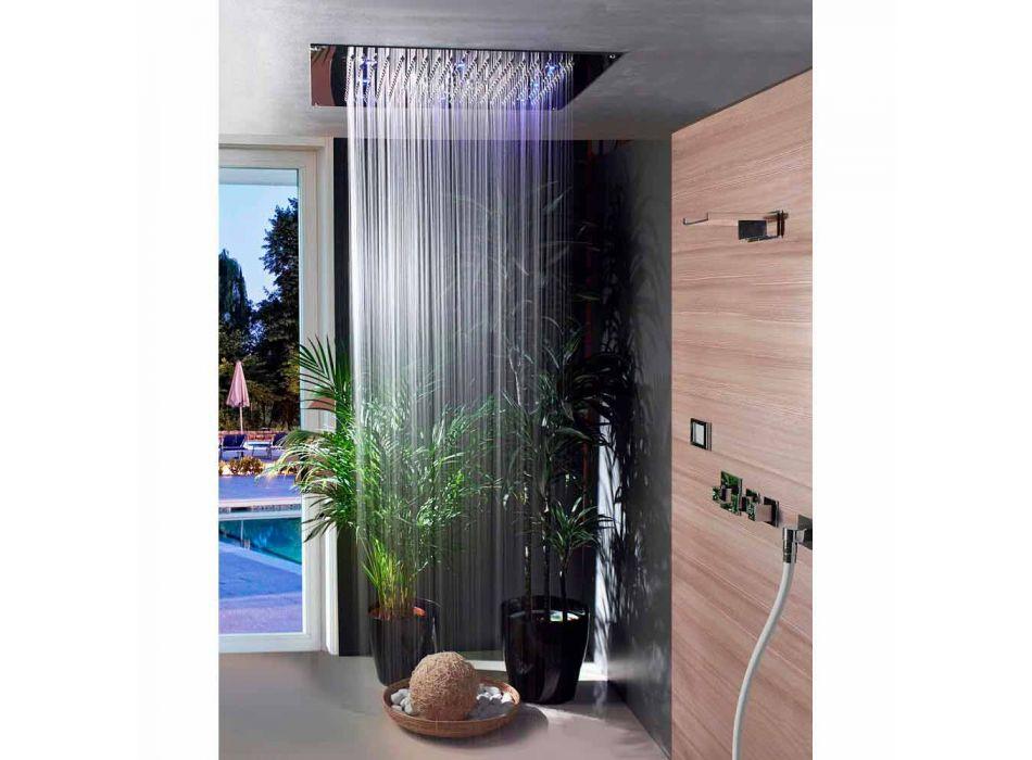 cap de duș de tavan cu cromoterapie și două jeturi de vis Neb