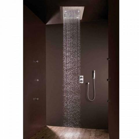 Duș un design modern, cu jet de ploaie și lumini cu LED-uri