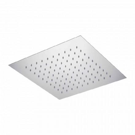Cap de duș cu tavan pătrat din oțel Fabricat în Italia - Amidon
