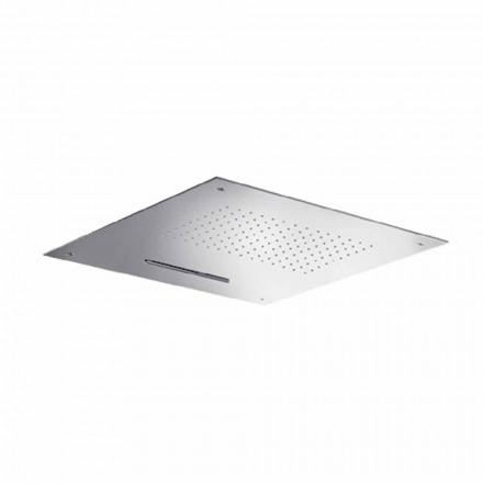 Cap de duș pătrat din oțel inoxidabil de înaltă calitate, fabricat în Italia - Nello