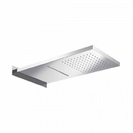 Cap de duș dreptunghiular din oțel inoxidabil Fabricat în Italia - Anito