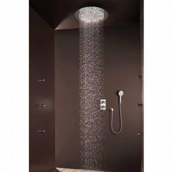 Deasupra capului de duș rotunde moderne la un jet cu lumini LED Bossini