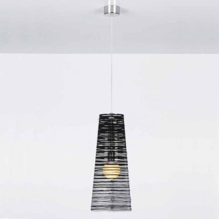 Design transparent suspendare, decor colorat, Shana diam. 25 cm