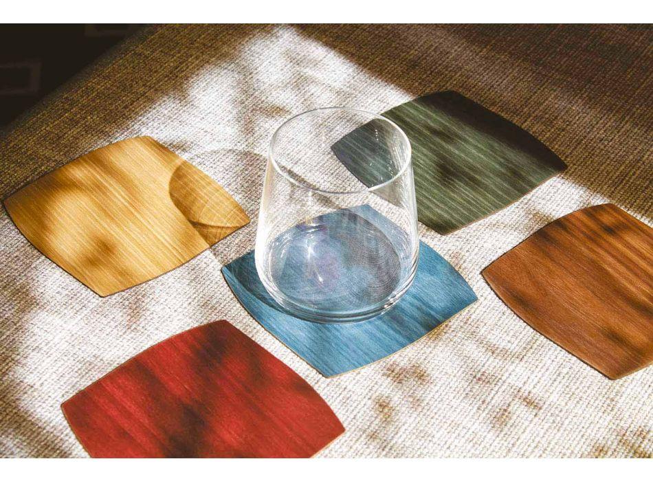 Coaster modern din lemn pătrat realizat în Italia - Abraham